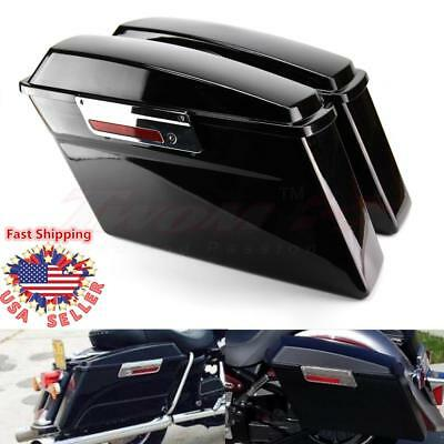 Frames & Fittings Purposeful Abs 4 Hard Stretched Saddle Bag Extensions For Harley Touring Fl Flh Flhr Street Electra Glide Road King Ultra