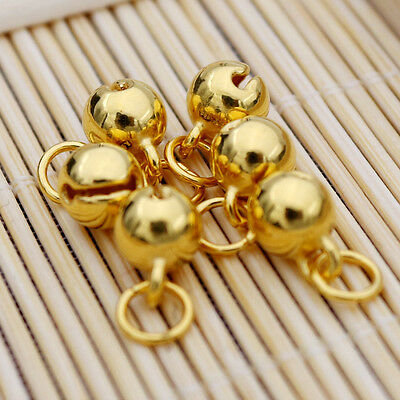 New 24K Yellow Gold Pendant DIY 5 mmW Bell  1PCS 0.3g