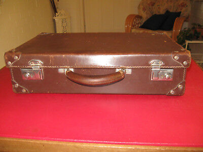 Small leather vintage suitcase
