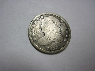 Circulated 1830 Capped Bust Dime Uncertified Ungraded Business Strike