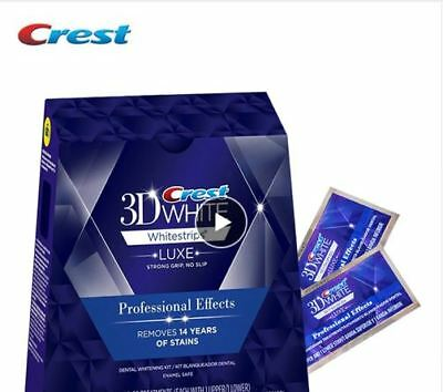 CREST 3D White Teeth Whitestrips Luxe Professional Effect 20 STRIPS