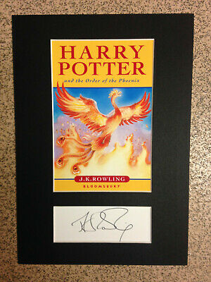 J.K.Rowling - Harry Potter - Order Of The Phoenix - RARE Book Cover & Signature