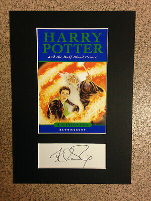 J.K.Rowling/Harry Potter And The Half Blood Prince - RARE Book Cover & Signature