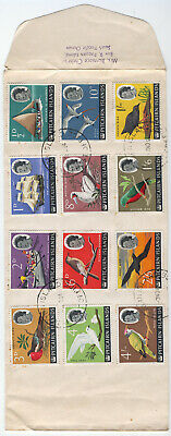 Pitcairn Is 1964 QEII part set on cover,