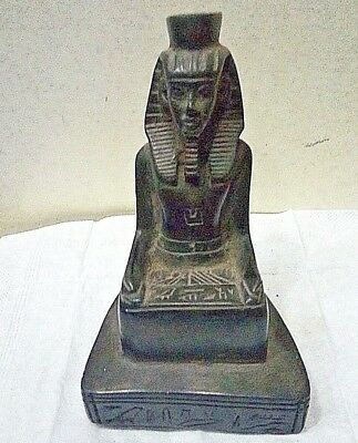 RARE ANCIENT EGYPTIAN ANTIQUE SCRIBE Statue Stone New Kingdom Egyptian Antique