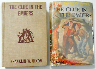 HARDY BOYS #35 The Clue In The Embers  FRANKLIN DIXON 1st ed in dj