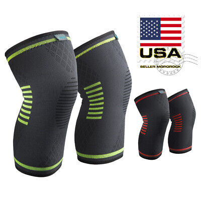 2X Knee Sleeve Compression Brace Support For Arthritis Sport Joint Pain Relief