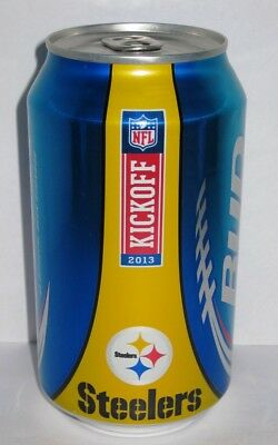 Bud Light 12 oz Beer Can - NFL Pittsburgh Steelers 7f506a2e6