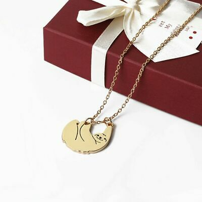 Bear Necklace Cute Hanging Sloth Charm Chain Pendants Gifts Animal Jewellery