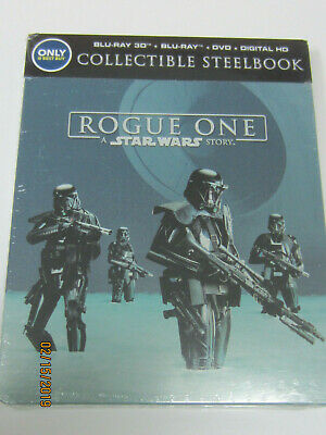 Rogue One: A Star Wars Story - Br 3D + Br + Dvd + Digital Hd - Steelbook Sealed