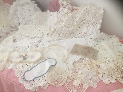 Bulk Lot Of 50 Vintage Crochet Doilies  Great for Use or Craft