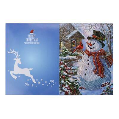 #D 5D DIY Diamond Painting Christmas Greeting Cards Cross Stitch Embroidery R1BO