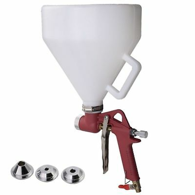 Air Hopper Spray Gun Paint Hand Tool Drywall Wall Painting Sprayer w/ 3 Nozzle