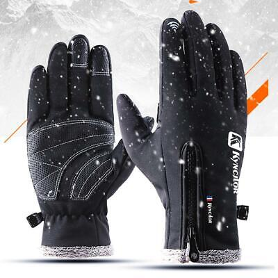 Touch Screen Winter Warm Fleece Lined Thermal Gloves For Riding Skiing