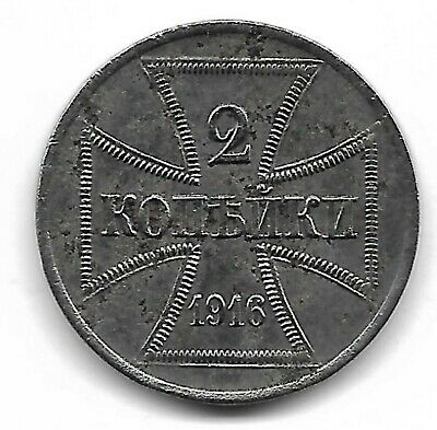 Germany military coinage 1916 A 2 kopeks coin