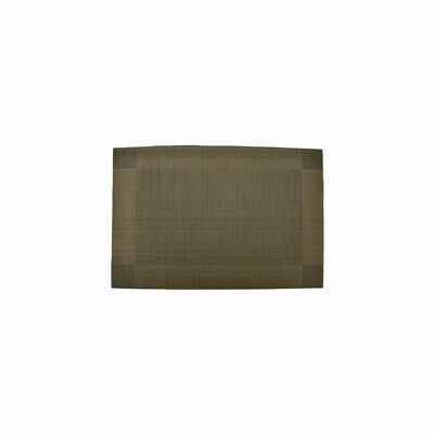 Lot de 4 tapis de table antidérapant revêtement pour Table de 30x45cm PCV Marron