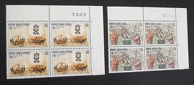 "Cyprus 1982 ""europa"" Issue - Historical Events Complete Set In Bl#4 Mnh !!!"