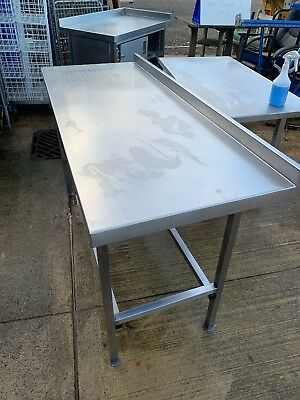Stainless Steel Catering Table Preparation Work Bench Commercial Kitchen Table