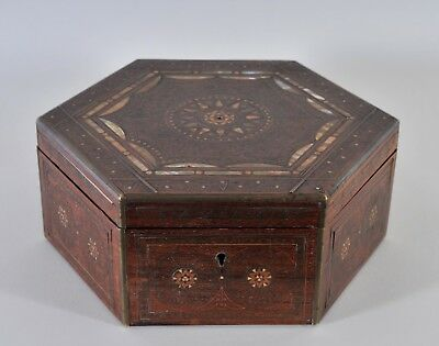 Antique marquetry box in Moghul style, c. 1900