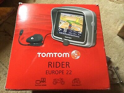 TomTom Rider Motorcycle Sat Nav & Scala Bt Headset Euro Maps