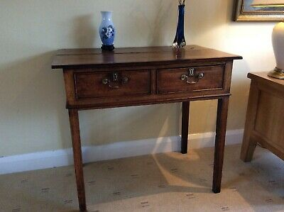 ANTIQUE GEORGIAN OAK SIDE TABLE, LOW BOY, Distressed, Lancaster City are