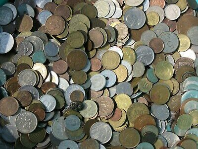Lot of Unsearched World Foreign coins selling by 1 Kilo = 2.2 Lbs FREE SHIPPING