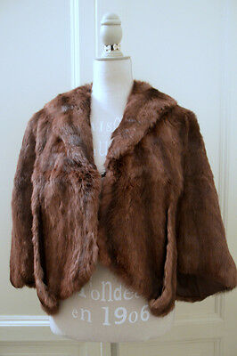 Cappa pelliccia vintage vtg real fur cape one size