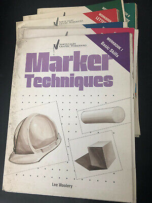 Vtg Magic Marker Techniques Drawing Illustrating Instruction Course Guides Lot