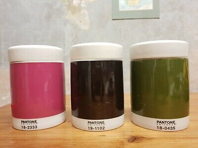 Pantone Tea Coffee Sugar Caddy Storage Mid Century Rare Vintage