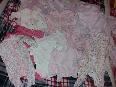 Baby Girls Bundle Of 7 Baby Grows, A Bolero, And 2 Vests - Next & Other Brands