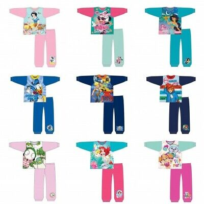 Girls Boys Childrens Disney Character Nightwear Pyjamas Pajamas Pjs Gift 1-5 Yrs