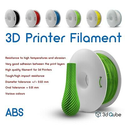 ABS Fiberlogy, 3d Printer Filament 1.75 mm - 0.85 kg, Various colours
