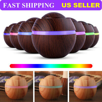 500Ml Electric Oil Essential Burner Aroma Diffuser Humidifiers Air Purifier LED