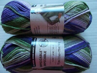 Loops&Threads Impeccable yarn, Fresh Lilac,  lot of 2 (192 yards each)