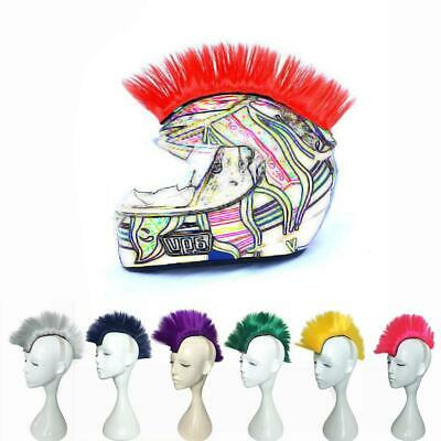 Cockscomb Design Colorful Helmet Wig Motorcycle Cool Modeling Mohawk Style Wig