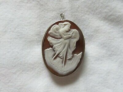 Cameo Pin, Marked 800 Silver