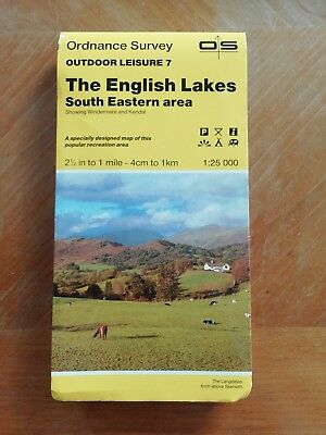 Os Outdoor Leisure Map 7 - The English Lakes South Eastern Area