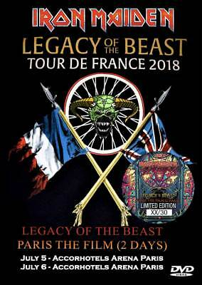 Iron Maiden Legacy Of The Beast Paris The Film (2 Days) 2018 2Dvd