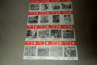 16 Assorted Issues Of SWISS NEWS AND VIEWS Magazine From 1985-87
