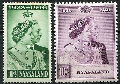 Nyasaland 1948, Royal Silver Wedding, SG 162 & 162, Mint Hinged