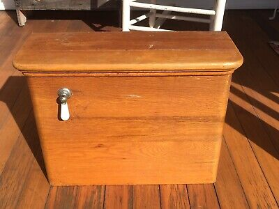 Vintage Antique Wood Toilet Tank Water Closet Copper Lined Wooden Toilet Tank