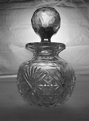 American Brilliant Cut Glass Antique Crystal Venetian Pattern By Hawkes Cologne