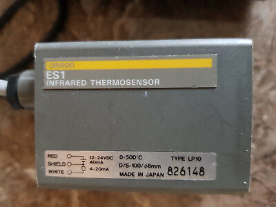 Omron Infrared Thermosensor ES1  0 - 500 degrees C. 12-24v dc