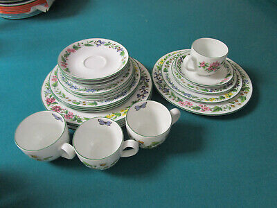 Royal Worcester  HERBS PATTERN 5 PC  Place Setting Ironstone Dishwasher