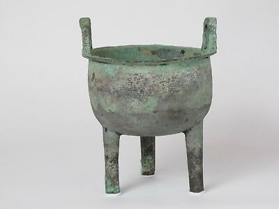 Chinese Bronze Archaic Ritual Food Vessel,ding,western Zhou Dynasty(1100-770 Bc)