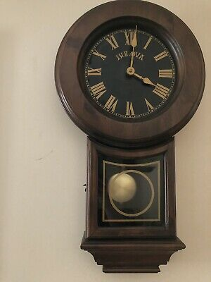 Bulova C3861 Old World Clock, Walnut Finish EXTREMELY RARE Perfect Working Condi