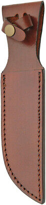 "Brown Leather Belt Sheath For Straight Fixed Knife Up To 6"" Blade 1162"