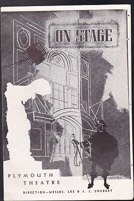 December 17,1951 (On Stage,plymouth Theatre) In Very Good Condition !!