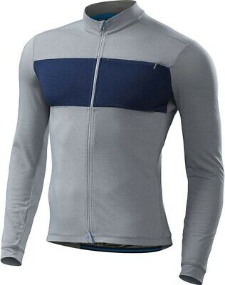 a276b147d87 SPECIALIZED RBX Drirelease Merino Long Sleeve Jersey Light Grey/Navy  Heather Med
