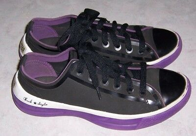 CONVERSE All Star Chuck Taylor Womens Size 5 Black Purple Sneakers Lace Up  Shoes b19551f79